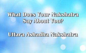 Today FREE Panchangam - Uttara Ashadha Nakshatra