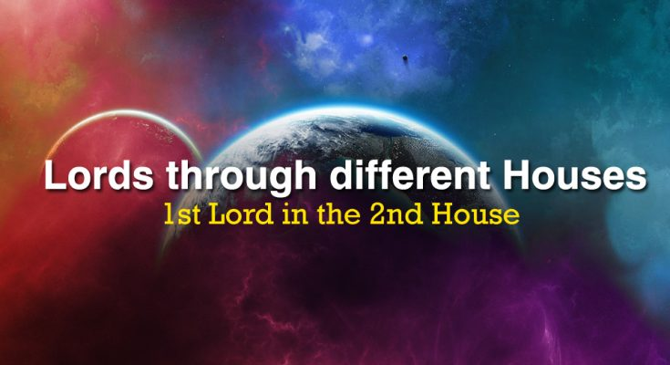 1st Lord in the 2nd House - Vedic Astrology Blog