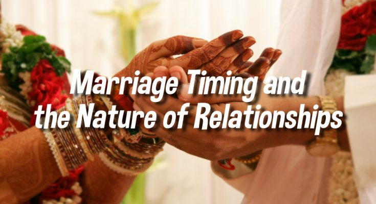 Marriage Timings and Nature of Relationships