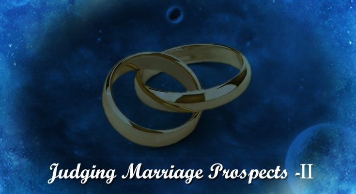 Judging Marriage Prospects
