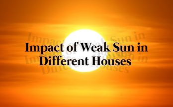Impact of weak sun in different houses
