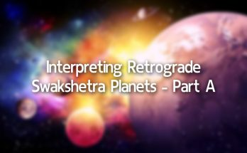 Interpreting Retrograde Swakshetra Planets-Part A