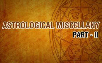 Astrological Miscellany Part 2