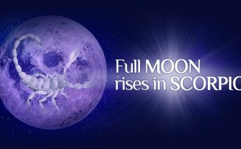 Full Moon rises in Scorpio