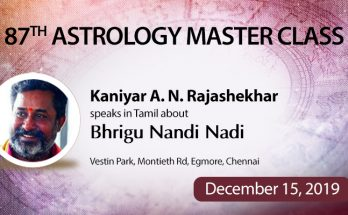 87th Astrology Master Class in Chennai