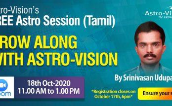 Tamil Astro Session - Srinivasa Udupa